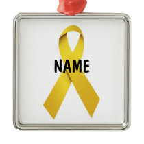 Suicide Memorial Ribbon Metal Ornament
