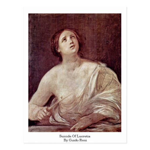 Suicide Of Lucretia By Guido Reni Post Card