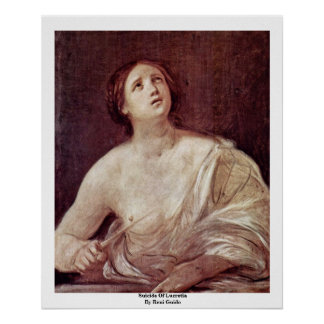 Suicide Of Lucretia By Reni Guido Poster