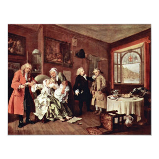 Suicide Of The Countess' By Hogarth William 4.25x5.5 Paper Invitation Card