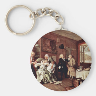 Suicide Of The Countess' By Hogarth William Basic Round Button Keychain