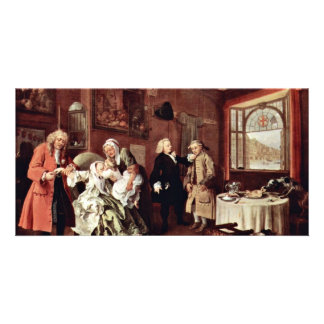Suicide Of The Countess' By Hogarth William Photo Card Template