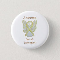 Suicide Prevention Angel Awareness Ribbon Pins