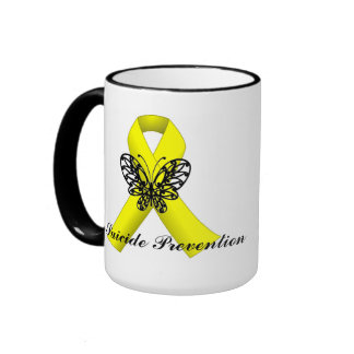 Suicide Prevention Awareness Butterfly Ribbon Mug
