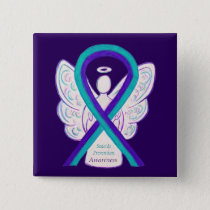Suicide Prevention Awareness Ribbon Angel Buttons
