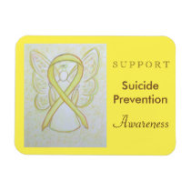 Suicide Prevention Awareness Ribbon Angel Magnet