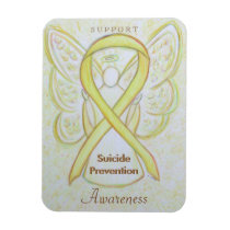 Suicide Prevention Awareness Ribbon Angel Magnets