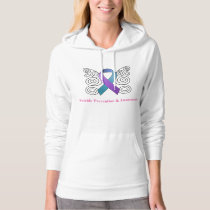 Suicide Prevention & Awareness Ribbon Butterfly Hoodie