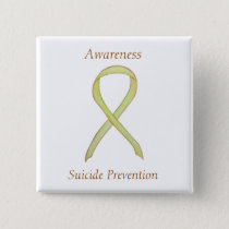 Suicide Prevention Awareness Ribbon Custom Pins