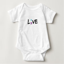 Suicide Prevention Awareness Semicolon Heartbeat Baby Bodysuit