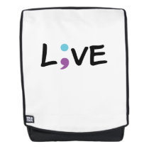Suicide Prevention Awareness Semicolon Heartbeat Backpack