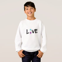 Suicide Prevention Awareness Semicolon Heartbeat Sweatshirt