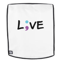 Suicide Prevention Awareness Semicolon Live Backpack
