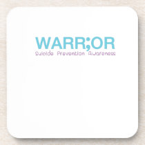 Suicide Prevention Awareness Semicolon Live Beverage Coaster