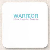 Suicide Prevention Awareness Semicolon Warrior Beverage Coaster