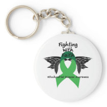 Suicide Prevention Awareness Semicolon Warrior Keychain