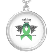 Suicide Prevention Awareness Semicolon Warrior Silver Plated Necklace