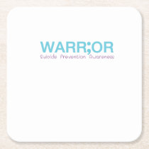 Suicide Prevention Awareness Semicolon Warrior Square Paper Coaster