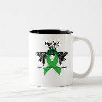 Suicide Prevention Awareness Semicolon Warrior Two-Tone Coffee Mug