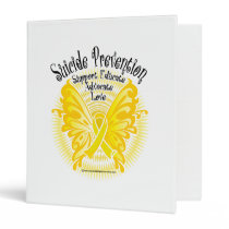 Suicide Prevention Butterfly 3 3 Ring Binder