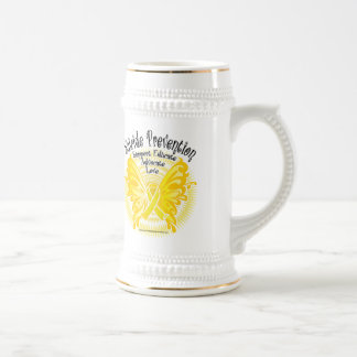 Suicide Prevention Butterfly 3 Beer Stein