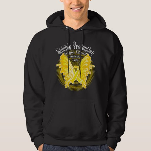 Suicide Prevention Butterfly 3 Hoodie
