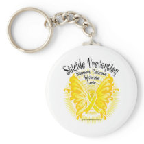 Suicide Prevention Butterfly 3 Keychain