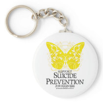 Suicide Prevention Butterfly Keychain