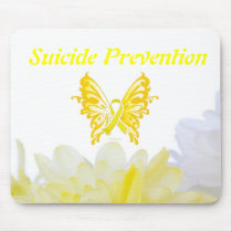 Suicide Prevention Butterfly Ribbon Mouse Pad