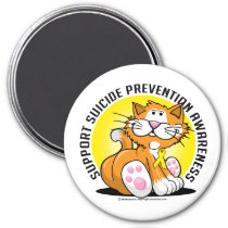 Suicide Prevention Cat Magnet