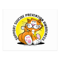 Suicide Prevention Cat Postcard