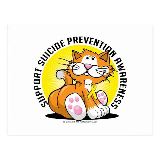 Suicide Prevention Cat Postcard