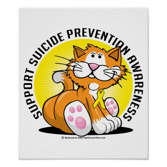 Suicide Prevention Cat Poster