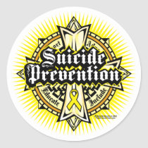 Suicide Prevention Celtic Cross Classic Round Sticker