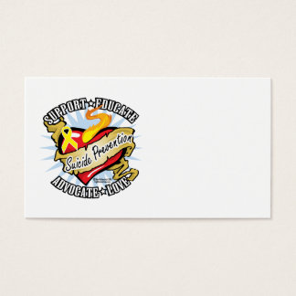 Suicide Prevention Classic Heart Business Card