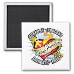 Suicide Prevention Classic Heart Fridge Magnet