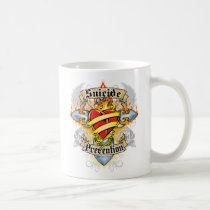 Suicide Prevention Cross & Heart Coffee Mug