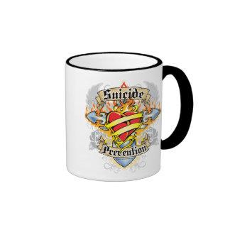 Suicide Prevention Cross & Heart Ringer Mug