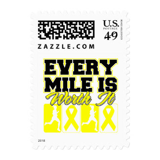 Suicide Prevention Every Mile is Worth It Postage Stamp