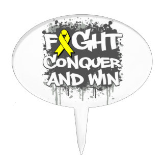 Suicide Prevention Fight Conquer and Win Cake Topper
