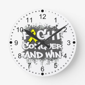 Suicide Prevention Fight Conquer and Win Clocks
