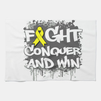 Suicide Prevention Fight Conquer and Win Hand Towel