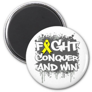 Suicide Prevention Fight Conquer and Win Refrigerator Magnets