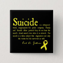 Suicide Prevention Flair with Grollman quote Button