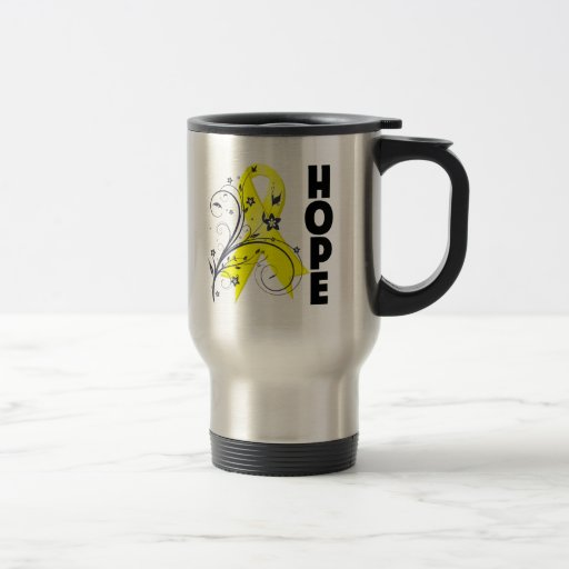 Suicide Prevention Floral Hope Ribbon Coffee Mug