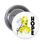 Suicide Prevention Floral Hope Ribbon Pin