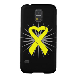 Suicide Prevention Heart Awareness Ribbon Galaxy S5 Cover