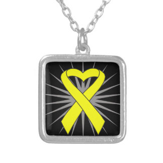 Suicide Prevention Heart Awareness Ribbon Necklace