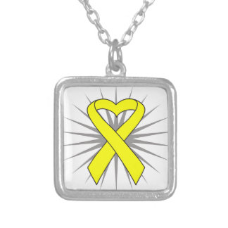 Suicide Prevention Heart Awareness Ribbon Personalized Necklace