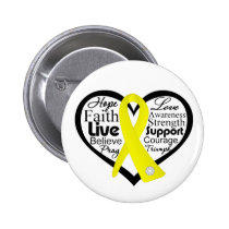 Suicide Prevention Heart Ribbon Collage 2 Inch Round Button